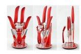 """3-6 """" il pollice ha stampato la lama di ceramica impostata per articolo da cucina (ZJ-0040)"""