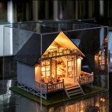 Dollhouse интеллектуальной игрушки деревянный DIY Гуанчжоу миниатюрный с мебелью для подарка малыша самого лучшего нордическая вилла праздника