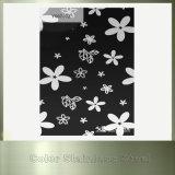 Лист нержавеющей стали цвета черного печатание цветка декоративный для здания
