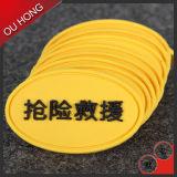 Etiqueta de borracha personalizada da forma oval para a roupa
