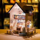 Modelo 3D Puzzle bricolaje juguete de la casa de madera con muebles