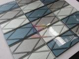 Tuiles de mosaïque utilisées par éclaboussure de la brique 3D en verre de décoration de mur (CFC687)