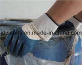 Перчатки Терри связанные щеткой работая с полным нитрилом покрытия нитрила (NB1511)