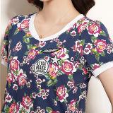 여름 신식 여자의 식물상 인쇄는 t-셔츠를 주문 설계한다