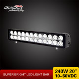 Eachのクリー語Chip 240W Double Row LED Light Bar Offroadのための20インチ10W