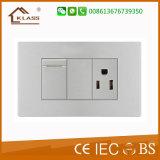 soquete de parede elétrico do interruptor +3pole de 1gang 1way fácil usar-se
