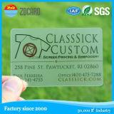 주문 PVC 물자 투명한 명함