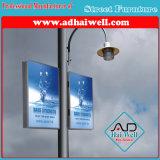 램프 폴란드 가벼운 상자를 광고하는 두 배 골목길