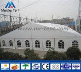 Tente en aluminium d'entrepôt de bâti avec le mur de Soild