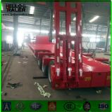 Сверхмощный Axle 3 трейлер кровати 60 тонн низкий