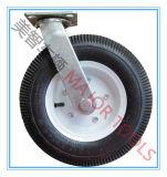 6 Zoll geregelt und Schwenker-Platten-pneumatische Gummifußrolle