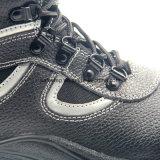 Zapatos de la seguridad en el trabajo del cuero partido con la punta de acero
