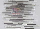 Azulejos de mosaico de cristal de la mezcla de aluminio de la forma de la tira (CFA62)