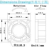 DC 3007 전기 축 팬 냉각팬 30 * 30 * 7mm