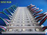 SMD 5050 3LEDs RGB impermeable luz LED módulo