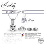 Cristal de la joyería del destino del anillo y de los pendientes pendientes determinados de Swarovski Eve