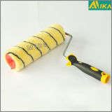 Il nero su Yellow Acrylic Thermal Bonding Paint Roller con Handle