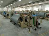 メートルの綿モスリンファブリック編む空気ジェット機の織機機械1台あたりの電気スマートな低い電力