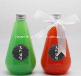 Frasco de plástico de suco colorido com tampa de parafuso Bebida para animais de estimação Garrafa de água potável para empacotamento de alimentos