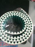 Раскройте пояс Htd8m PU Endged приурочивая при зеленая ткань покрынная на зубах