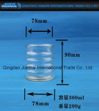 Heiße verkaufenglasware-Kerze-Halter-Flasche mit Ring-Muster
