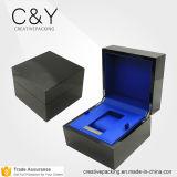 نبيلة أسود بيانو طلاء لّك ساعة وحيد خشبيّة يعبّئ صندوق