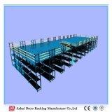 Het hete Verkopende Mezzanine van de Opslag van het Pakhuis Op zwaar werk berekende Staal die van het Rek van de Pallet Industriële Gesteunde het Rekken Opslag raspen