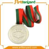 銀メダルを押す顧客デザイン