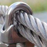 Clip de cuerda de acero galvanizado de alambre DIN741