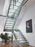 Escaleras de cristal contemporáneas del surtidor de China con la pisada de cristal antirresbaladiza