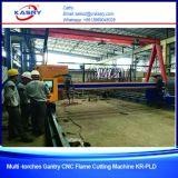 CNC van de brug de Scherpe Machine van de Vlam van het Plasma met het Rechte Knipsel van 9 Toortsen van de Vlam