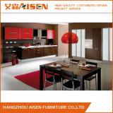 Gabinetes de cozinha modernos do PVC da carcaça da melamina