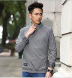 Kundenspezifische Mann-Halsausschnitt-dick graue normale Sweatshirts