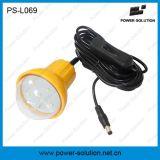 2W Lanterna recarregável solar com lâmpada 1W e carregador para celular