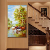 卸し売り高品質の装飾の油絵、3D美しい映像の景色の油絵