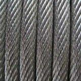 까만 Color Many Layers를 가진 Roating Steel Wire Rope