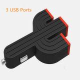 이동 전화를 위한 새로운 디자인 3 USB 선인장 차 충전기