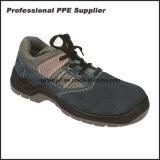 Zapato de trabajo de acero de la punta del cuero escotado del ante