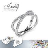 Het Kristal van de Juwelen van het lot van x-Type Swarovski Ring