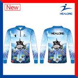어떤 패턴 승화 선스크린 어업 Jerseys든지 착용하는 파란 색깔