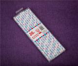Paja de papel de papel de las pajas de beber del partido disponible con el bolso de OPP y la tarjeta de cabecera