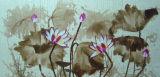 Pintura al óleo floral decorativa de Dafen y de Deco Roseo Waterlilly