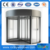Porta giratória de vidro cheia