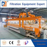Máquina de prensa de filtro industrial com sistema automático de lavagem de pano
