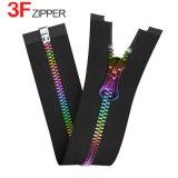 5# Zipper de aluminio con Gradient Colors