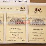 Il vino contrassegna gli autoadesivi con il documento strutturato UV del punto