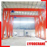 Capacité de poids de levage extérieure d'intérieur de grue de portique 10t