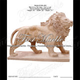 Scultura dorata del leone del calcio per la decorazione Ma-490 del giardino
