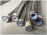 Boyau de teflon tressé flexible du fil d'acier PTFE de SAE100 R14