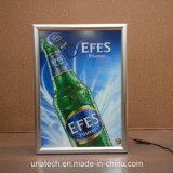 매체 선전용 황급한 알루미늄 프레임 LED 최고 얇은 광고 가벼운 상자